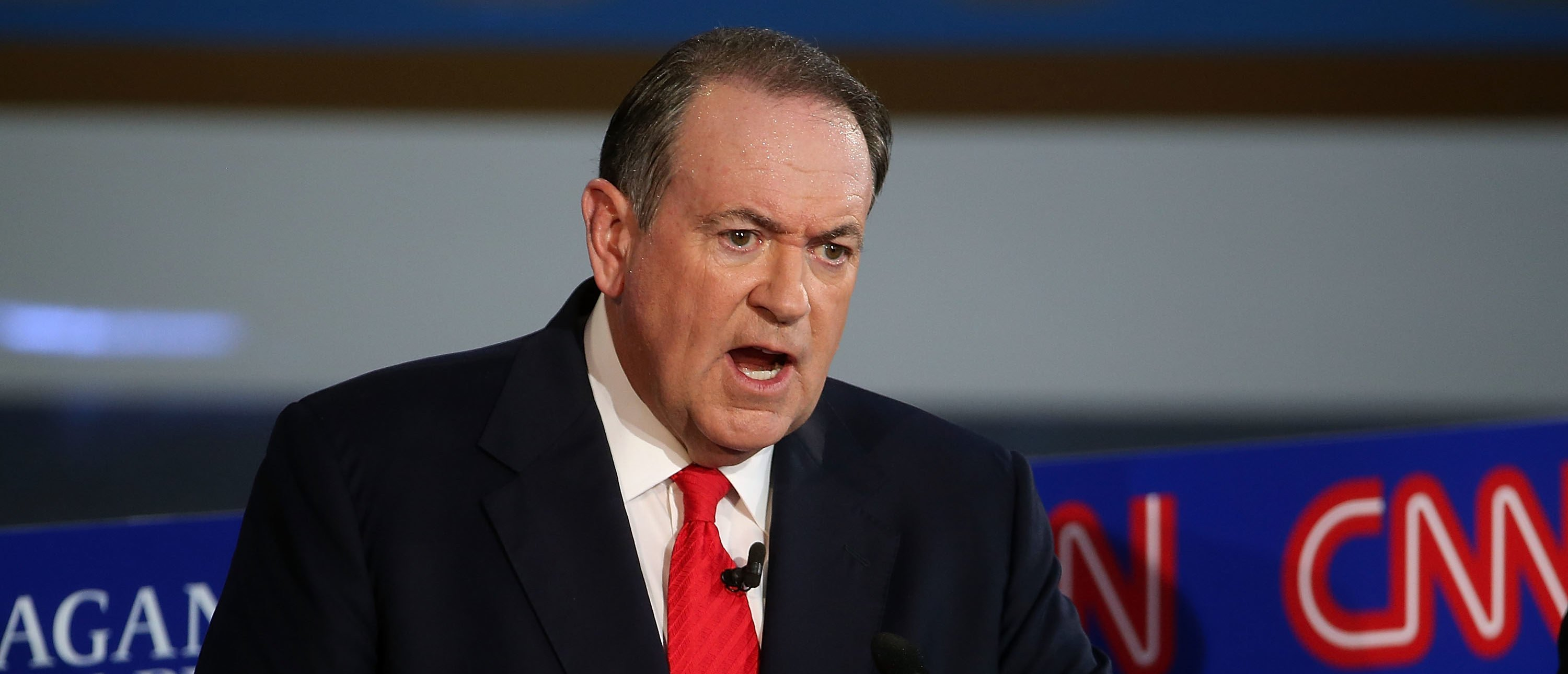 Republican Candidates Take Part In Debates At Reagan Library In Simi Valley Former governor and presidential candidate Mike Huckabee made an interesting, and very controversial, point about sanctuary cities on Fox News Friday (Justin Sullivan/Getty Images)