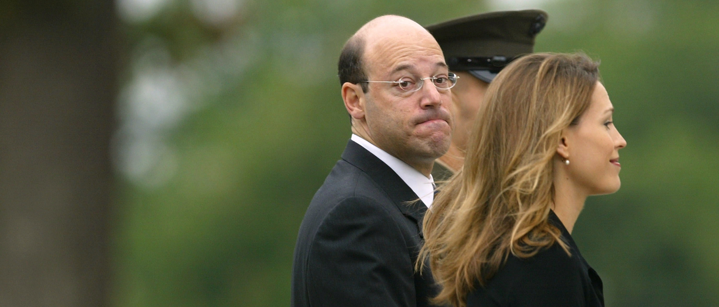 WASHINGTON - JUNE 11:  Former White House Press Secretary Ari Fleischer enters the National Cathedral for the State Funeral of former President Ronald Reagan June 11, 2004 in Washington, DC. Reagan will be laid to rest during a sunset funeral at the Reagan Library in Simi Valley, California.  (Photo by Spencer Platt/Getty Images)