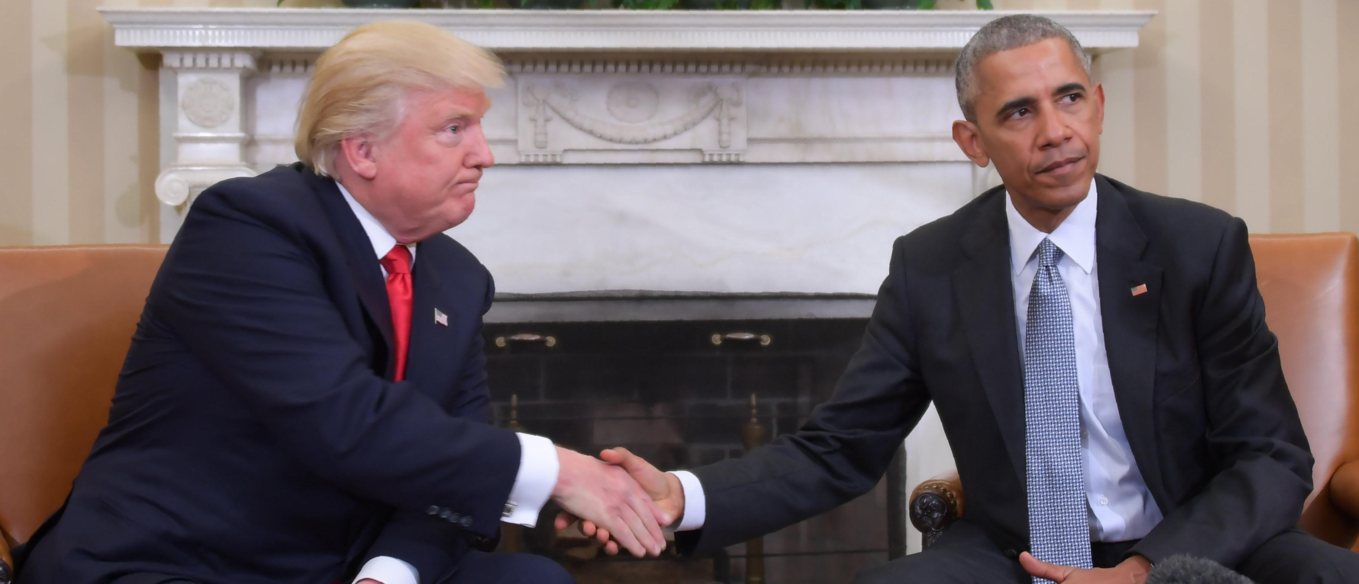 Donald Trump, Barack Obama (JIM WATSON/AFP/Getty Images)