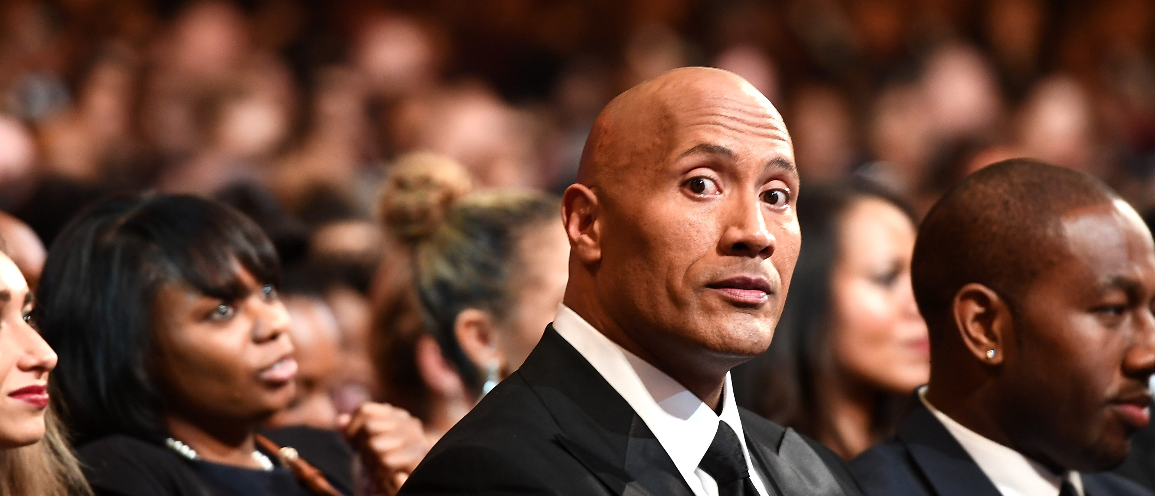 PASADENA, CA - FEBRUARY 11: Actor Dwayne Johnson attends the 48th NAACP Image Awards at Pasadena Civic Auditorium on February 11, 2017 in Pasadena, California. (Photo by Marcus Ingram/Getty Images for NAACP Image Awards)