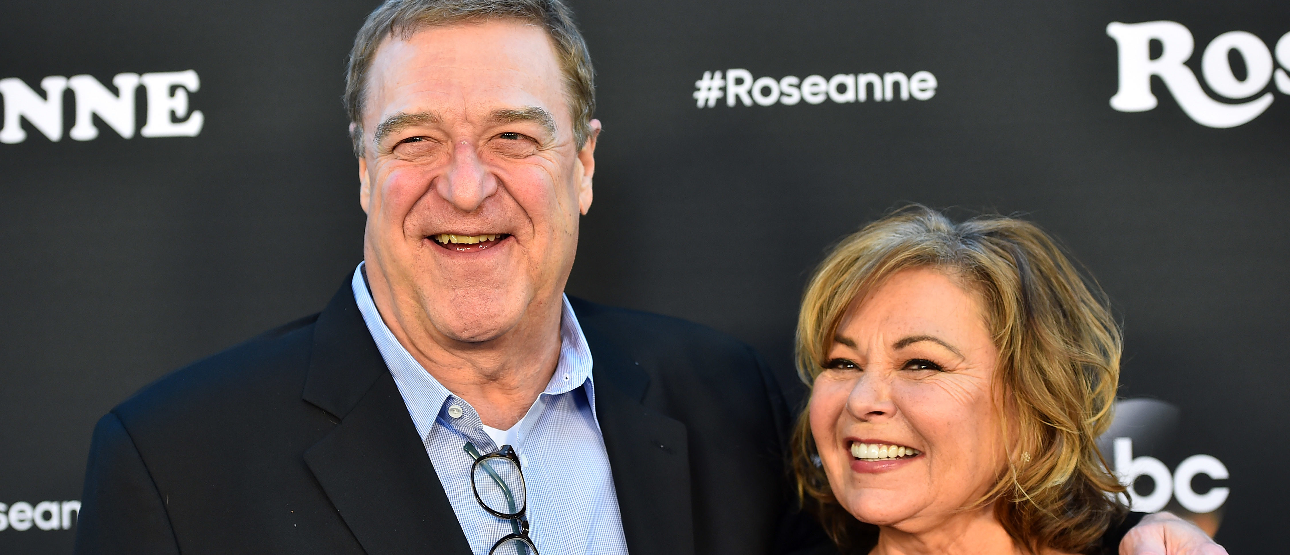 "BURBANK, CA - MARCH 23: John Goodman and Roseanne Barr attend the premiere of ABC's ""Roseanne"" at Walt Disney Studio Lot on March 23, 2018 in Burbank, California. (Photo by Alberto E. Rodriguez/Getty Images)"