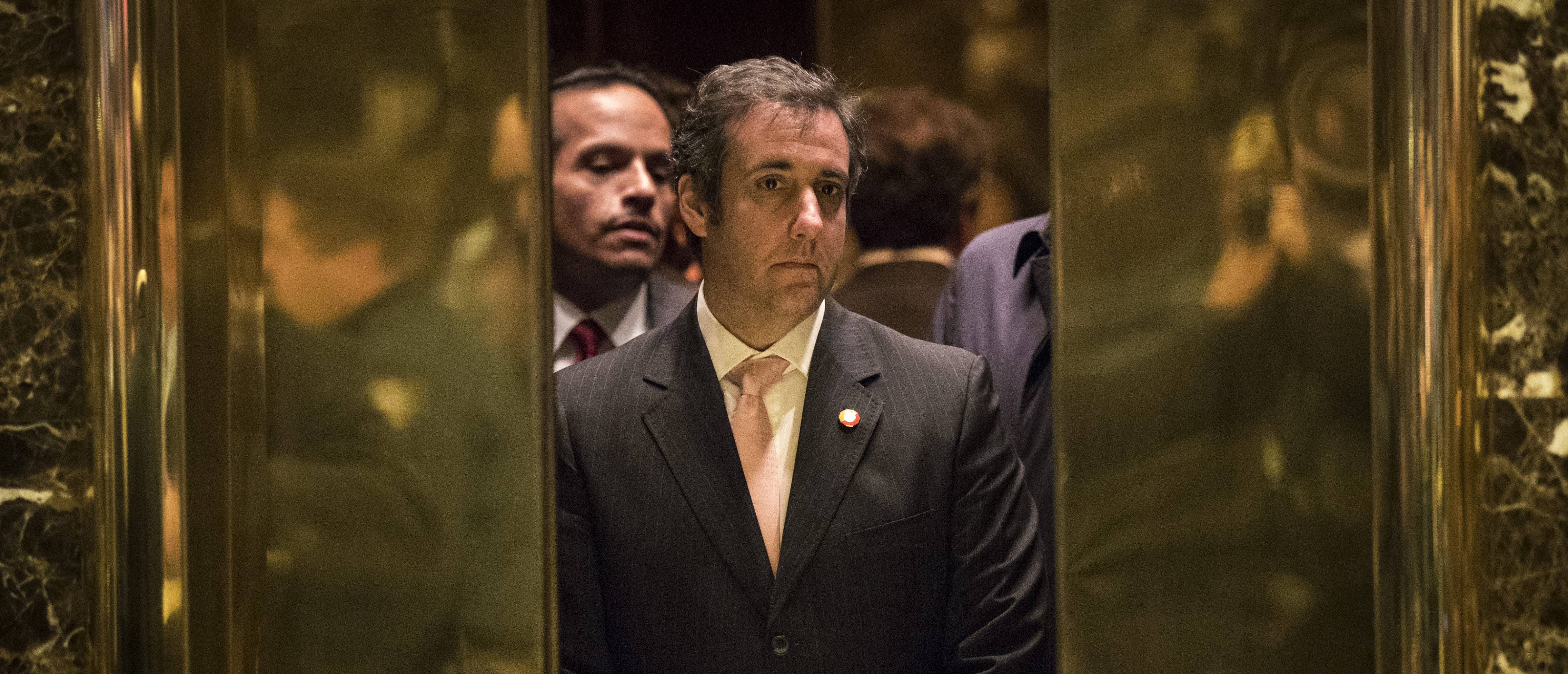 NEW YORK, NY - DECEMBER 12: Michael Cohen, personal lawyer for President-elect Donald Trump, gets into an elevator at Trump Tower, December 12, 2016 in New York City. President-elect Donald Trump and his transition team are in the process of filling cabinet and other high level positions for the new administration. (Photo by Drew Angerer/Getty Images)
