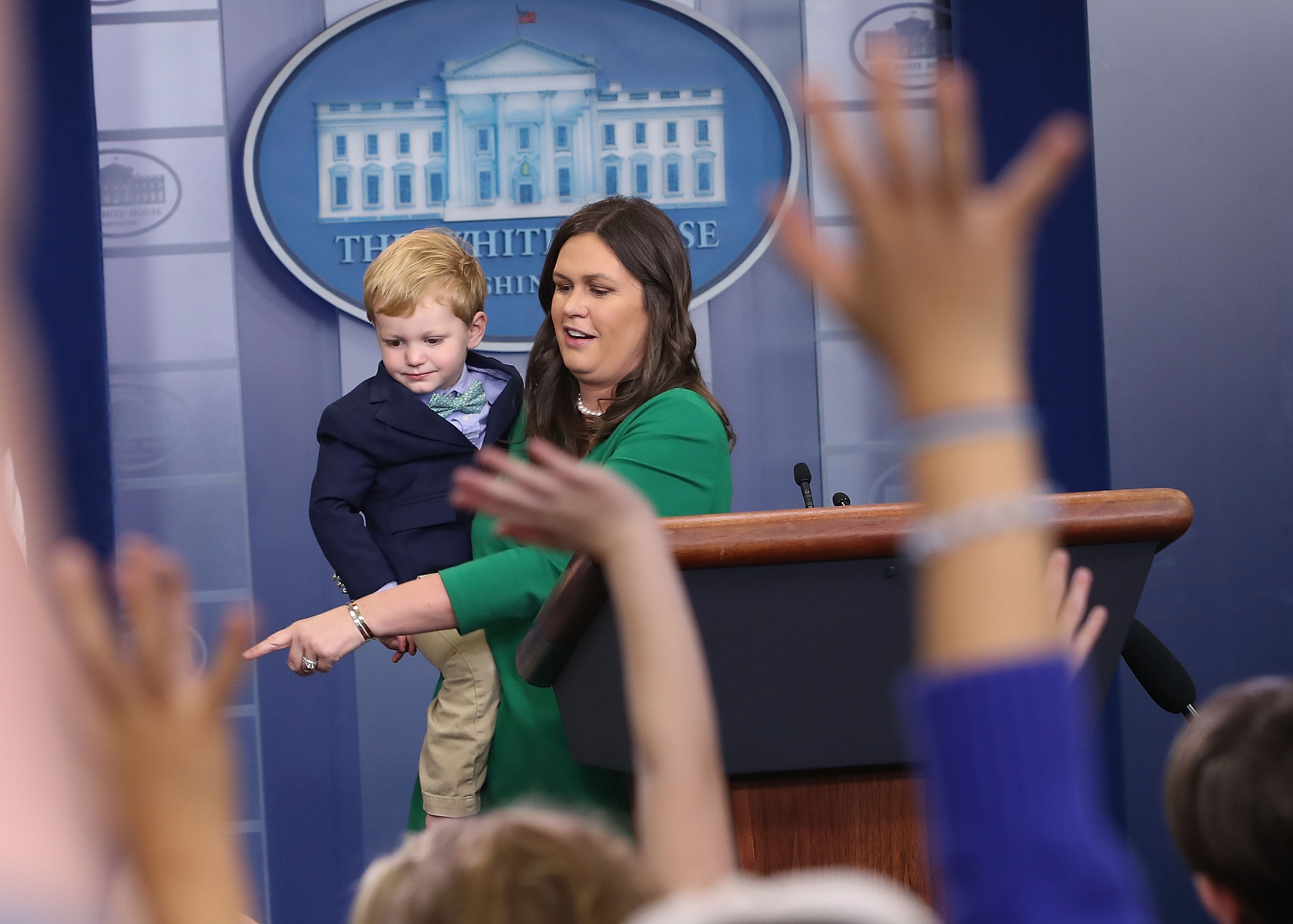 When kids take over the White House press briefing