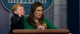 Sarah Sanders Brings Her Kids To Work For National Take Your Child To Work Day