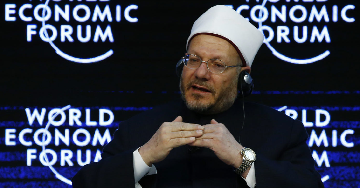 Egypt's Grand Mufti Dr. Shawki Ibrahim Abdel-Karim Allam attends the annual meeting of the World Economic Forum (WEF) in Davos, Switzerland January 22, 2016. REUTERS/Ruben Sprich