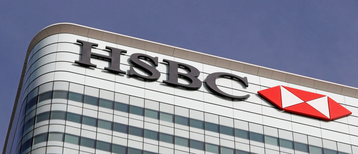 The HSBC bank logo is seen at their offices in the Canary Wharf financial district in London, Britain, March 3, 2016. REUTERS/Reinhard Krause