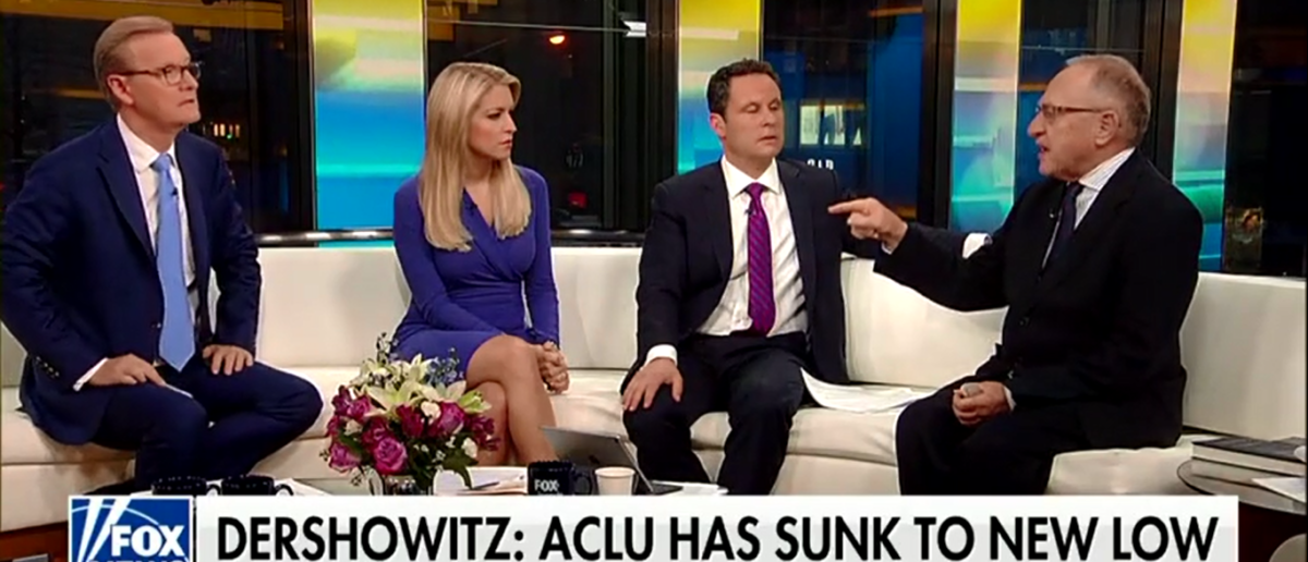 Harvard Professor Alan Dershowitz Slams ACLU As 'Partisan, Hard-Left' Group That Doesn't Care About Civil Liberties - Fox & Friends 4-16-18