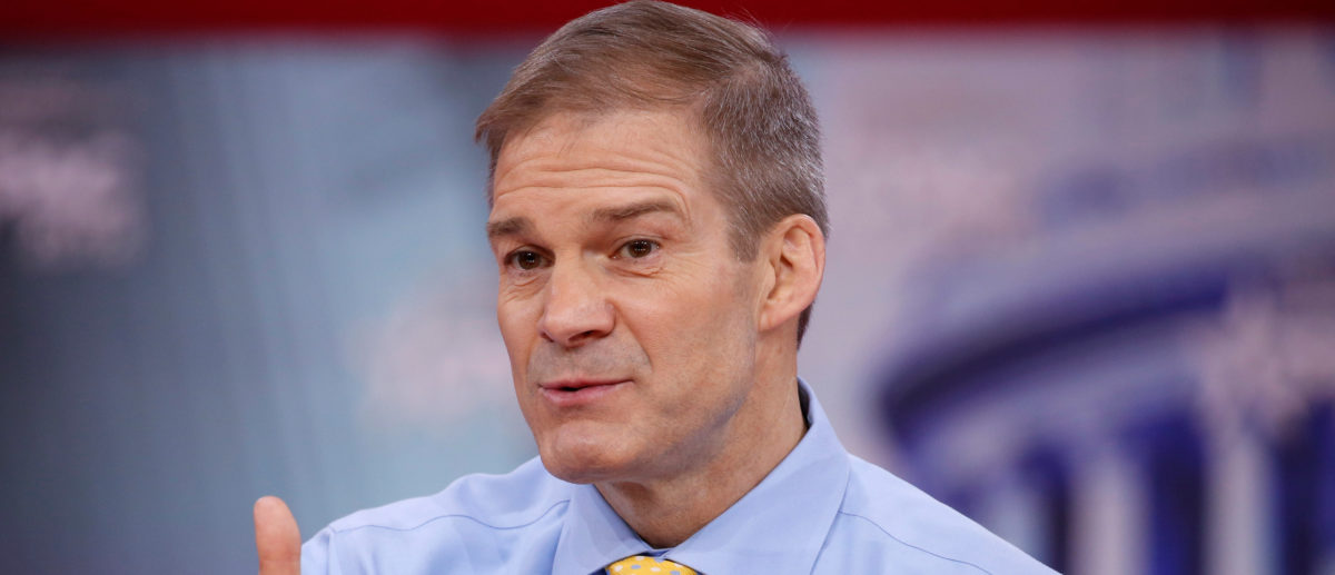 Rep. Jim Jordan (R-OH) speaks at the Conservative Political Action Conference (CPAC) at National Harbour, Maryland, U.S., February 23, 2018. REUTERS/Joshua Roberts