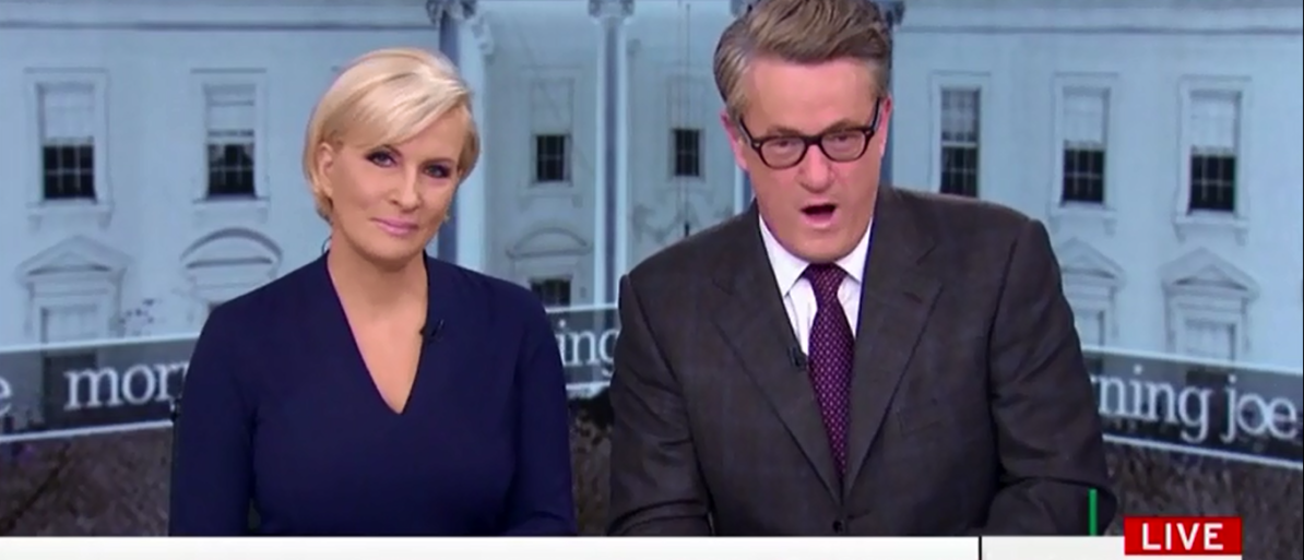 Joe Scarborough Mocks Viewers Who Don't Trust Comey 'You're Buying Into Some Stupid Conspiracy Theory' - Morning joe 4-16-18 (Screenshot/MSNBC)