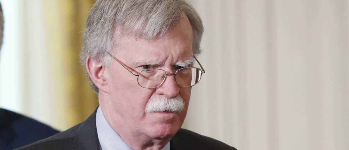 National security adviser John Bolton arrives for a joint news conference between U.S. President Donald Trump and Germany's Chancellor Angela Merkel in the East Room of the White House in Washington, U.S., April 27, 2018. REUTERS/Kevin Lamarque