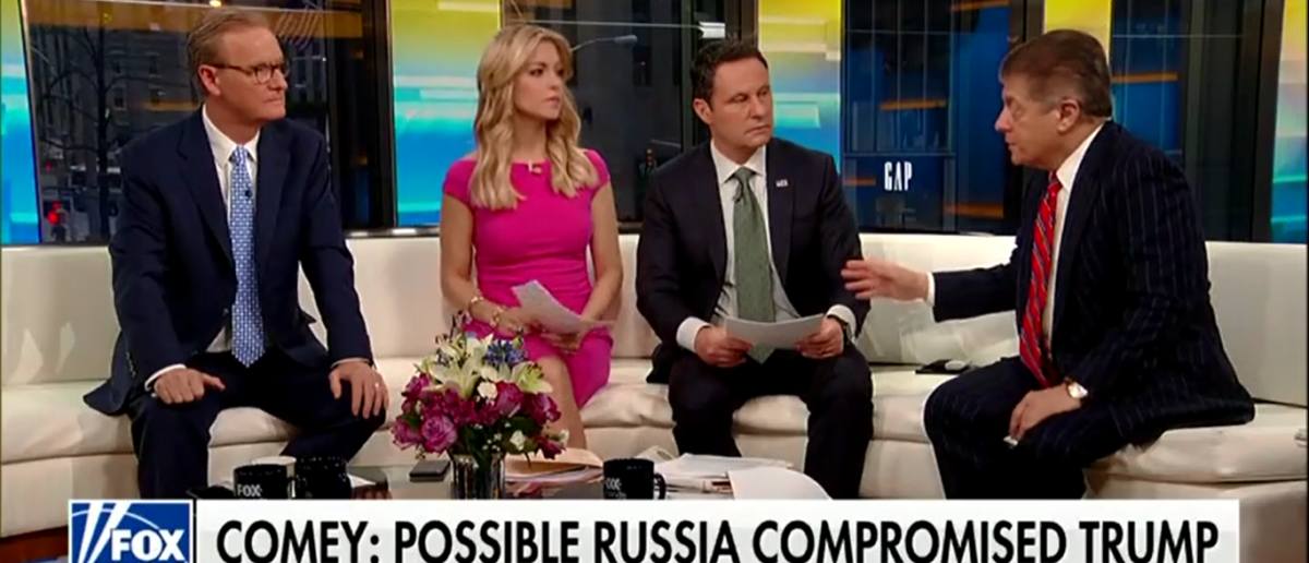 Judge Napolitano Thinks Comey May Slip Up And Hurt Mueller's Case With Book Tour - Fox & Friends 4-17-18 (Screenshot/Fox News)