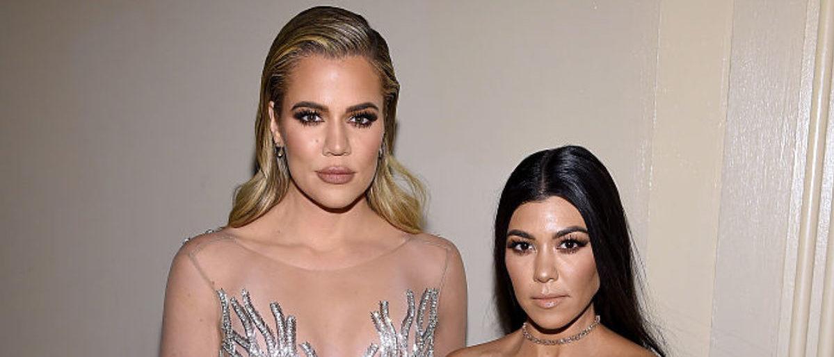 NEW YORK, NY - NOVEMBER 21: hloe Kardashian and Kourtney Kardashian attend Gabrielle's Angel Foundation For Cancer Research Hosts Angel Ball 2016 on November 21, 2016 in New York City. (Photo by Dimitrios Kambouris/Getty Images for Gabrielle's Angel Foundation)