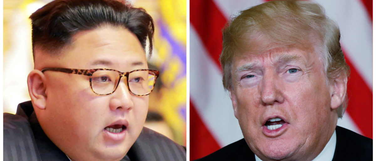 FILE PHOTO: A combination photo shows North Korean leader Kim Jong Un (L) in Pyongyang, North Korea and U.S. President Donald Trump, in Palm Beach, Florida, respectively from Reuters files. REUTERS/KCNA handout via Reuters & Kevin Lamarque