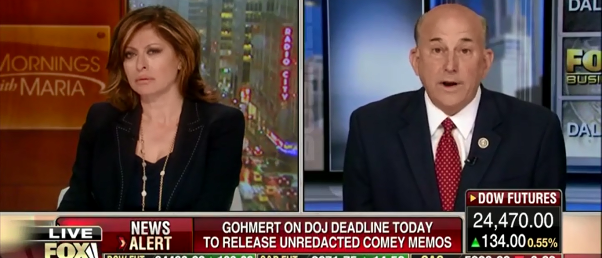 Louie Gohmert Gives The Green Light To Get Rid Of Rod Rosenstein - Fox Business 4-16-18 (Screenshot/Fox Business)