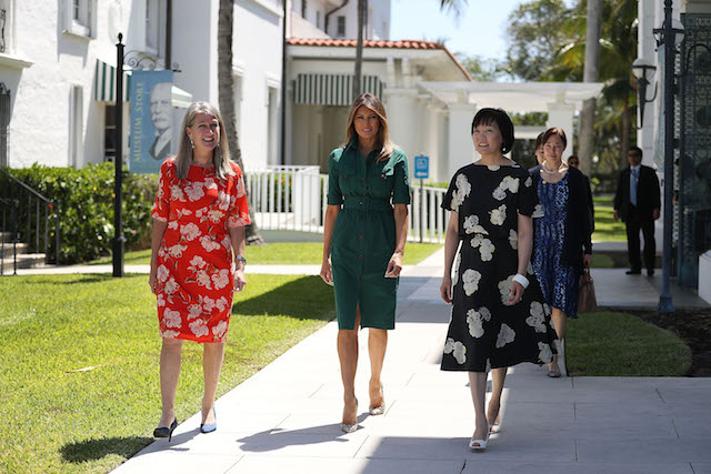 first-lady-melania-trump-and-wife-of-japanese-prime-minister-akie-abe-visit-flagler-museum-3