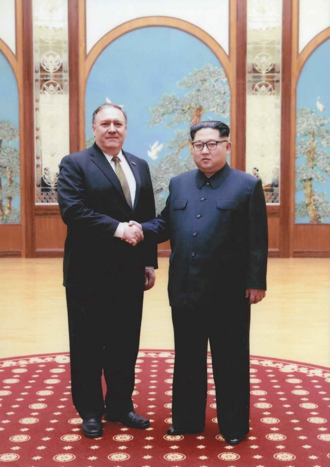 Mike Pompeo meets with Kim Jong Un in North Korea during Easter weekend in 2018. (Photo: The White House)