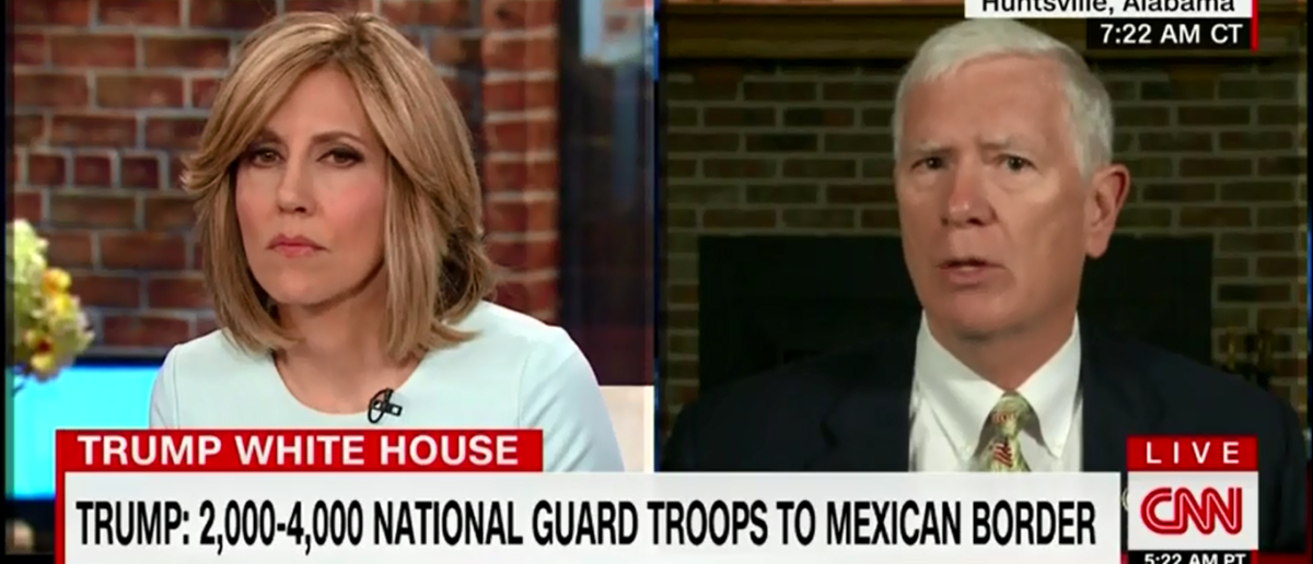 Mo Brooks Calls The Surge Of Illegal Immigrants 'Invasion By Foreign Nationals' And It Drove CNN's Alisyn Camerota Up A Wall - New Day 4-6-18