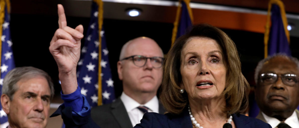 House Minority Leader Nancy Pelosi (D-CA) speaks during a news conference with Democratic leaders on opposition to government shutdown on Capitol Hill in Washington, U.S., January 19, 2018. REUTERS/Yuri Gripas