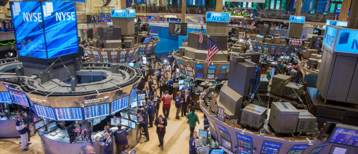 New York, New York, USA -- Sept. 22, 2011 - Pictured is the busy trading floor of the New York Stock Exchange. (Shutterstock)