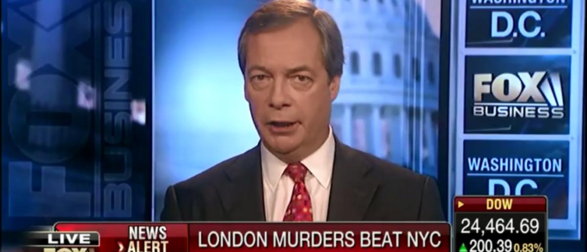 Nigel Farage Blames Political Correctness And London's Mayor Sadiq Khan For Spike In Murder Rate - Varney & Co 4-5-18