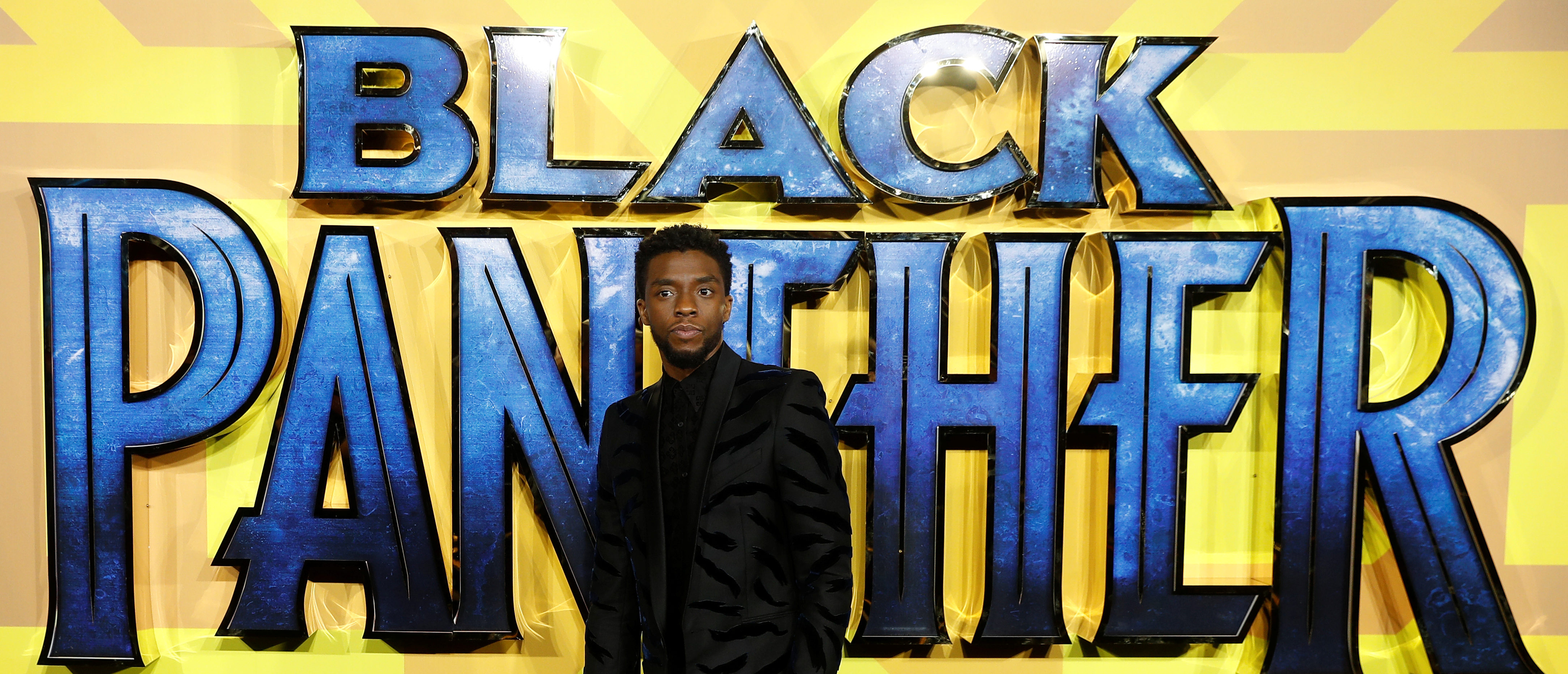 Actor Chadwick Boseman arrives at the premiere of the new Marvel superhero film 'Black Panther' in London, Britain February 8, 2018. REUTERS/Peter Nicholls