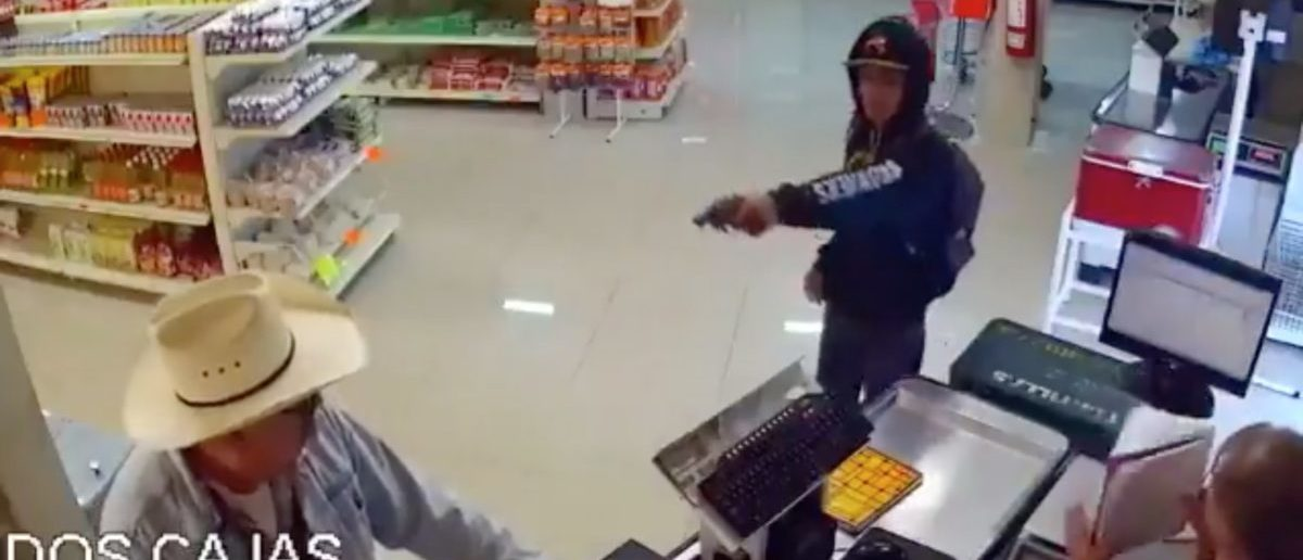 Robbery (Credit: Screenshot/Twitter Video Breaking911)