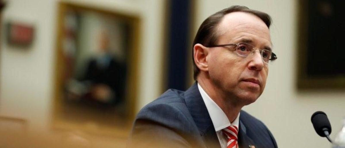 FILE PHOTO - Deputy U.S. Attorney General Rod Rosenstein testifies to the House Judiciary Committee hearing on oversight of the Justice Department on Capitol Hill in Washington, U.S., December 13, 2017. REUTERS/Joshua Roberts | Mark Meadows Impeachment Rod Rosenstein