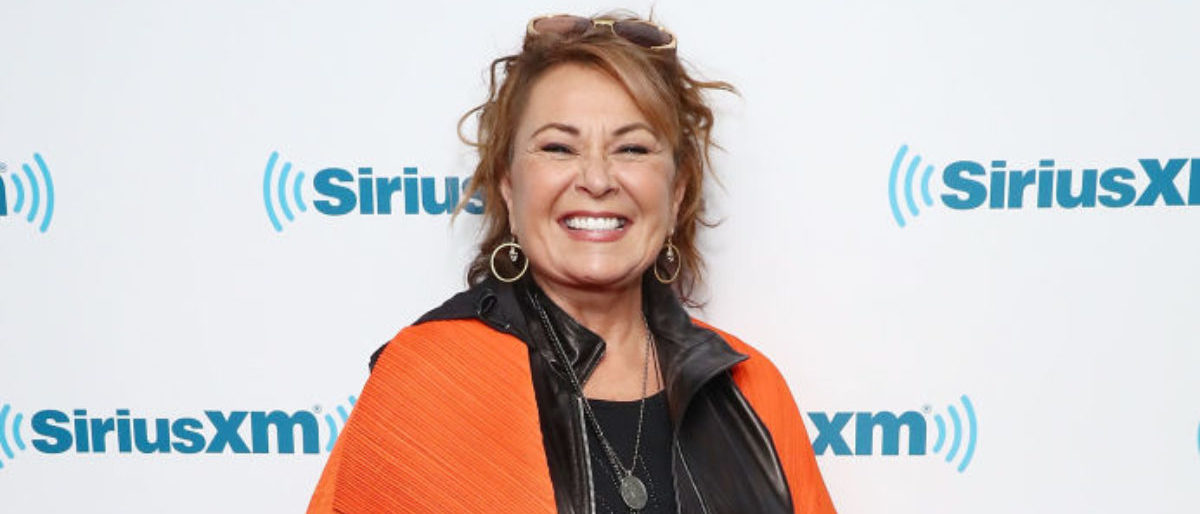 NEW YORK, NY - MARCH 27: Actress and comedian Roseanne Barr poses for photos during SiriusXM's Town Hall with the cast of Roseanne on March 27, 2018 in New York City. (Photo by Astrid Stawiarz/Getty Images for SiriusXM)