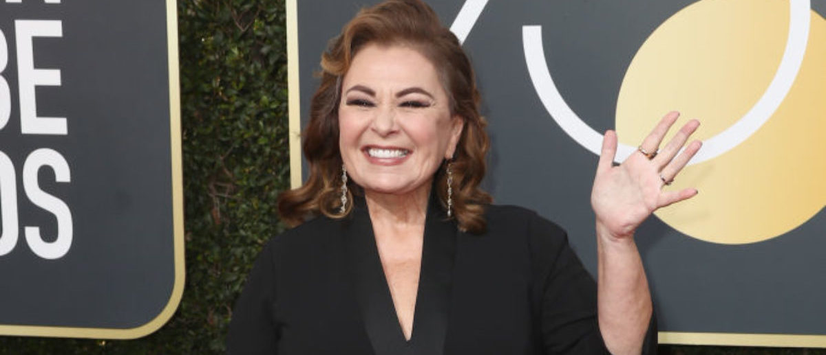 BEVERLY HILLS, CA - JANUARY 07: Roseanne Barr attends The 75th Annual Golden Globe Awards at The Beverly Hilton Hotel on January 7, 2018 in Beverly Hills, California. (Photo by Frederick M. Brown/Getty Images)