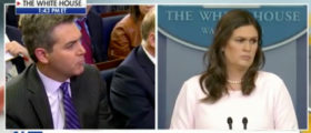 Sarah Sanders Swats Away Race-Baiting Question From CNN's Jim Acosta