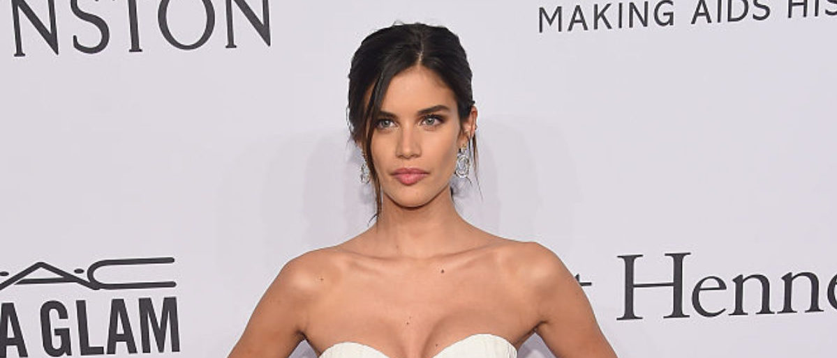 NEW YORK, NY - FEBRUARY 10: Model Sara Sampaio attends 2016 amfAR New York Gala at Cipriani Wall Street on February 10, 2016 in New York City. (Photo by Michael Loccisano/Getty Images)