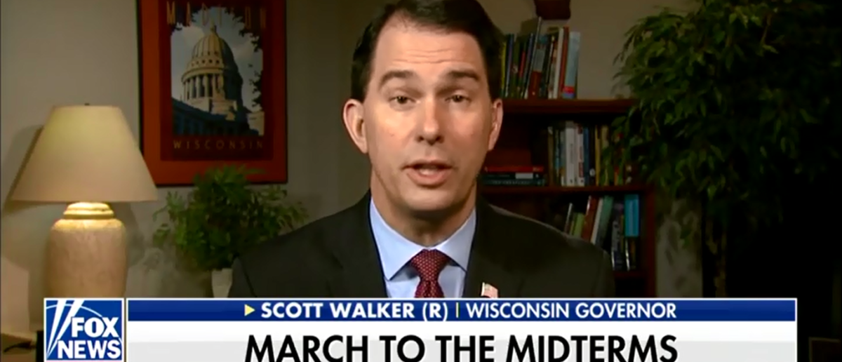 Scott Walker Warns GOP Of Possible Blue Wave Building For November Midterms - Fox & Friends 4-9-18