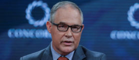 Scott Pruitt,Administrator of the U.S. Environmental Protection Agency, answers a question during the Concordia Summit in Manhattan