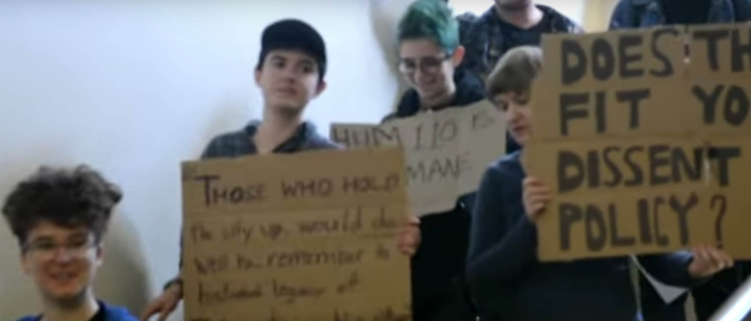 Reed College protests, YouTube