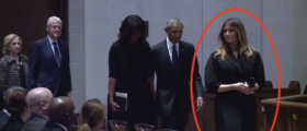 Melania Sat Next To The Obamas, Clintons For Barbara's Funeral – What She Did Next Was Pure Class