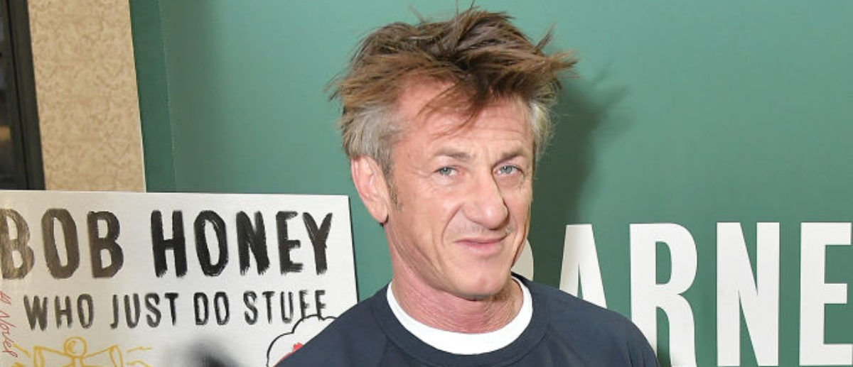 """NEW YORK, NY - MARCH 28: Actor and author Sean Penn discusses his new book """"Bob Honey Who Just Do Stuff: A Novel"""" at Barnes & Noble Union Square on March 28, 2018 in New York City. (Photo by Michael Loccisano/Getty Images)"""