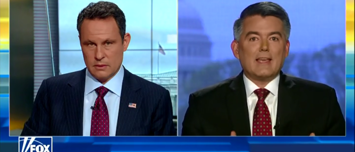 """Republican Sen. Cory Gardner of Colorado said to expect more Democratic obstruction of President Donald Trump's nominees, Tuesday on """"Fox & Friends."""" (Screenshot/Fox News 4-24-18)"""