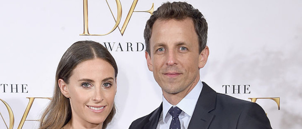 NEW YORK, NY - APRIL 23: Alexi Ashe and Seth Meyers attend the 2015 DVF Awards at United Nations on April 23, 2015 in New York City. (Photo by Jamie McCarthy/Getty Images)