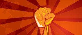 A symbol of revolution is displayed. (Shutterstock/Bakhtiar Zein)