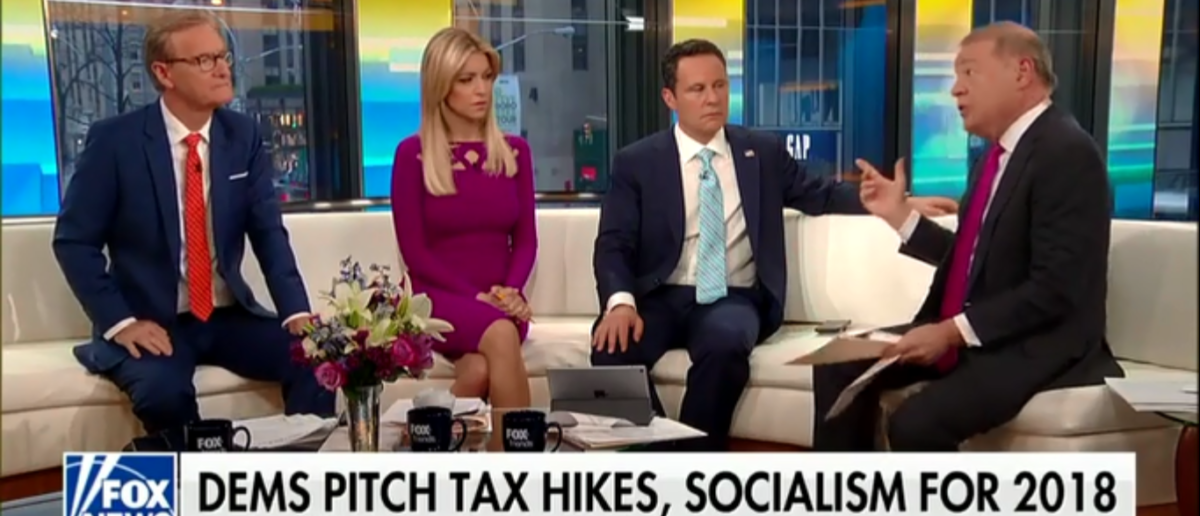 Stuart Varney Blames Barack Obama And Academia For America's 'Left Turn' Towards Socialism - Fox & Friends 4-23-18 (Screenshot/Fox News)