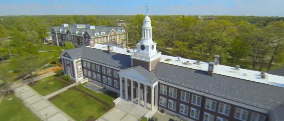 Pictured is an overhead view of The College Of New Jersey. (Photo Credit: YouTube/TCNJ Video)