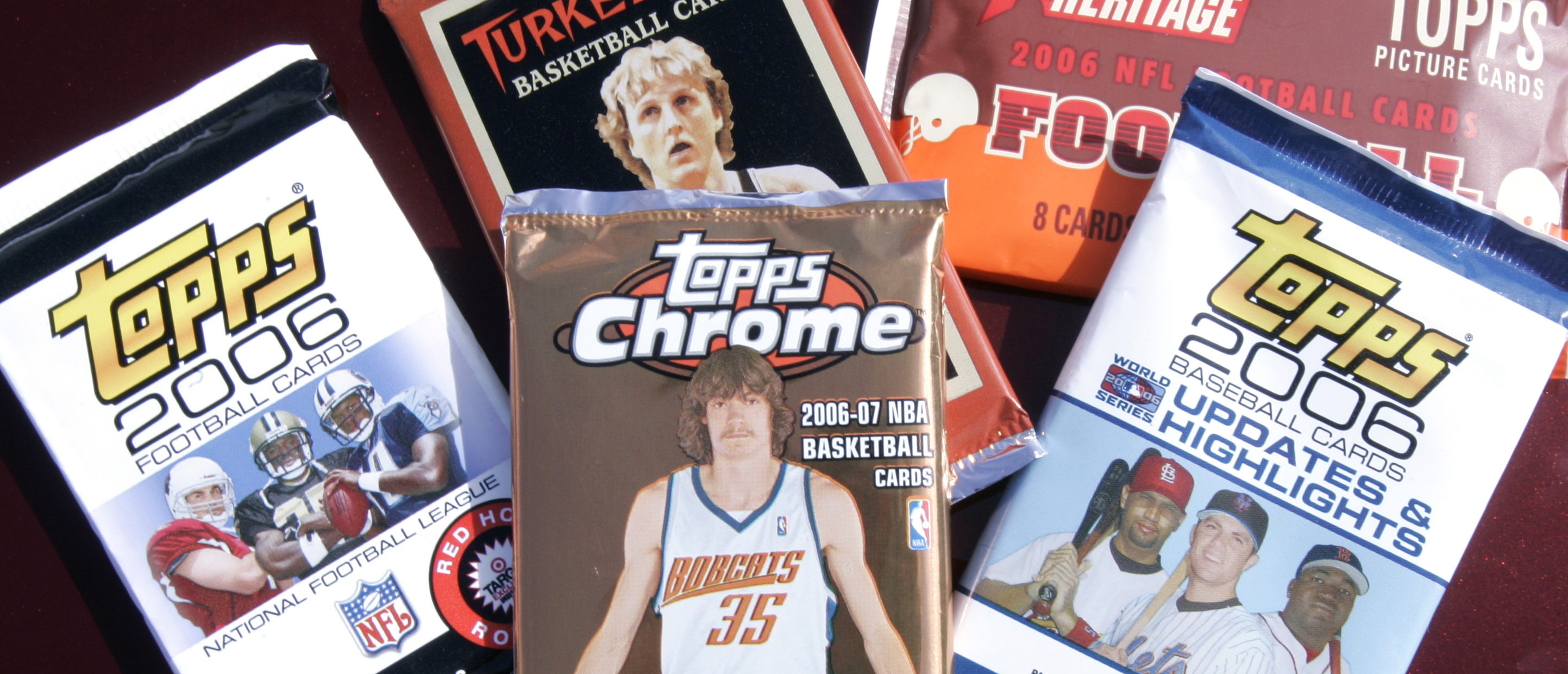 A variety of Topps Co. trading cards are displayed in Denver, Colorado March 6, 2007. REUTERS/Rick Wilking