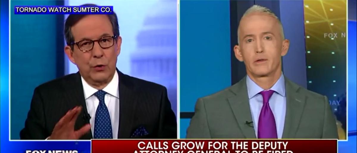 Trey Gowdy Has Some Advice For Trump On How To Handle Rod Rosenstein - Fox News Sunday 4-15-18