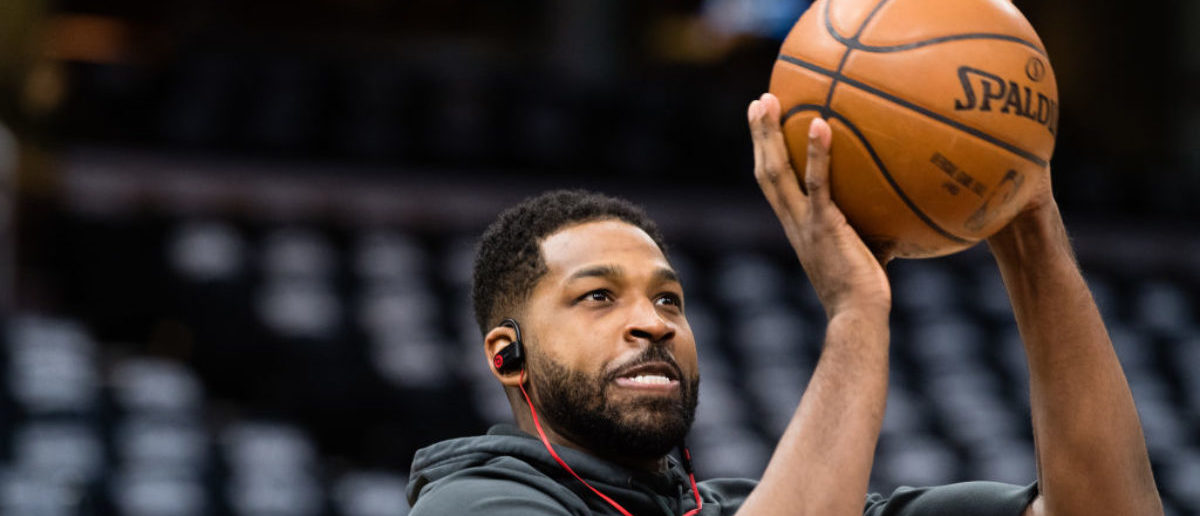 CLEVELAND, OH - APRIL 18: Tristan Thompson #13 of the Cleveland Cavaliers warms up prior to game 2 of the first round of the NBA playoffs against the Indiana Pacers at Quicken Loans Arena on April 18, 2018 in Cleveland, Ohio. NOTE TO USER: User expressly acknowledges and agrees that, by downloading and or using this photograph, User is consenting to the terms and conditions of the Getty Images License Agreement. (Photo by Jason Miller/Getty Images)