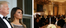 'Perfection': Trump Lavishes Praise On Melania For State Dinner