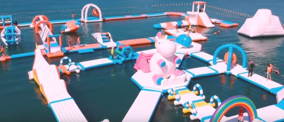 You can now go to a unicorn theme park Inflatable Island/ YouTube