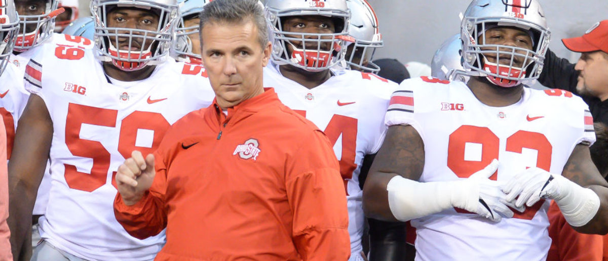 LINCOLN, NE - OCTOBER 14: Head coach Urban Meyer of the Ohio State Buckeyes waits to lead the team on the field against the Nebraska Cornhuskers at Memorial Stadium on October 14, 2017 in Lincoln, Nebraska. (Photo by Steven Branscombe/Getty Images)
