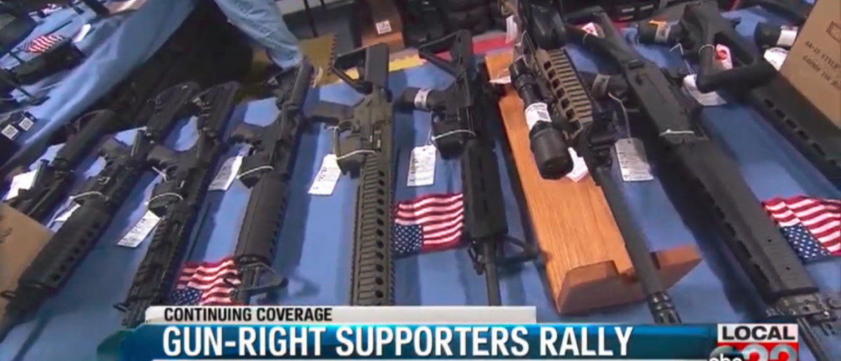 Vermont Second Amendment Rally - Screenshot ABC WVNY 4-8-18
