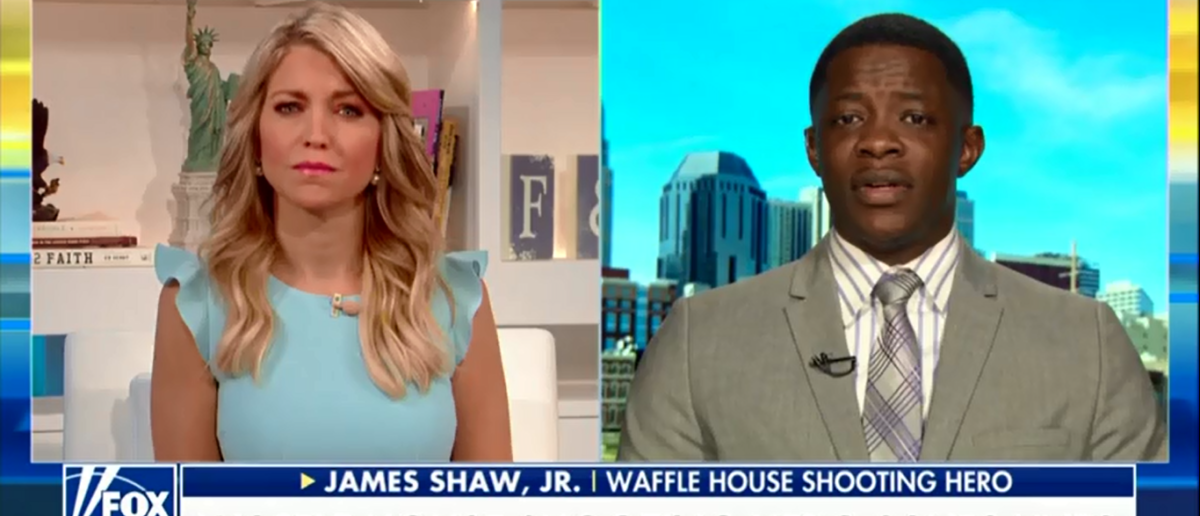 Waffle House Hero Is Healing Through Faith 'It Made Sense For Me To Go To Church' - Fox & Friends 4-24-18 (Screenshot/Fox News)