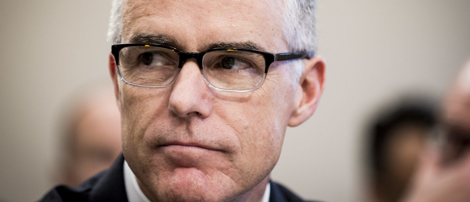 Acting FBI Director Andrew McCabe testifies before a House Appropriations subcommittee meeting on the FBI's budget requests for FY2018 on June 21, 2017 in Washington, D.C. (Photo by Pete Marovich/Getty Images)